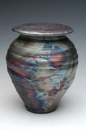Raku Companion Urn | Raku Ceramic Companion Urns | Dolphin Blue