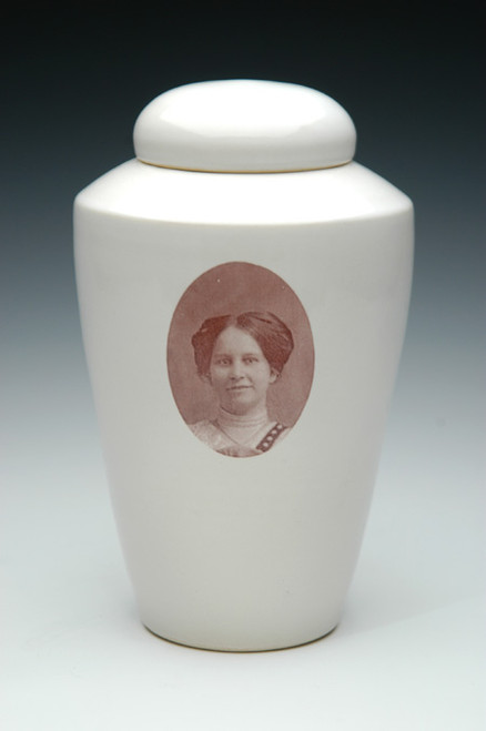 Photo Ceramic Cremation Urn | Shape 1