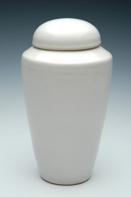 White Gloss Cremation Urn | Ceramic Urns