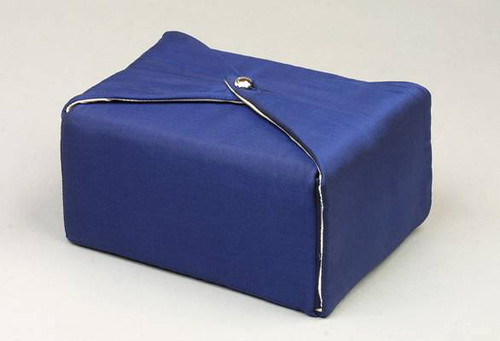 Silk Fabric Cremation Urn in Dark Blue | Silk Urns