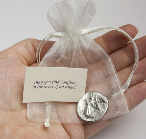 Pewter Angel Pocket Charms Set Of 25 Urns Northwest