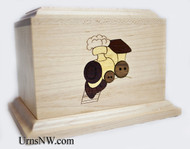 Train Inlay Child Urn