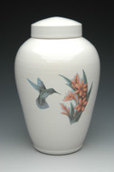 Hummingbird Ceramic Cremation Urn in Color | Shape 1