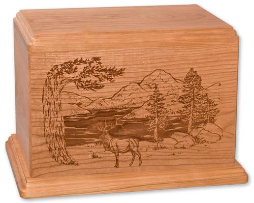 Laser Carved Elk Urn