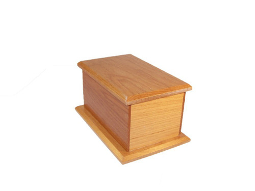 Alder Wood Pet Urn - 25 Cubic Inches