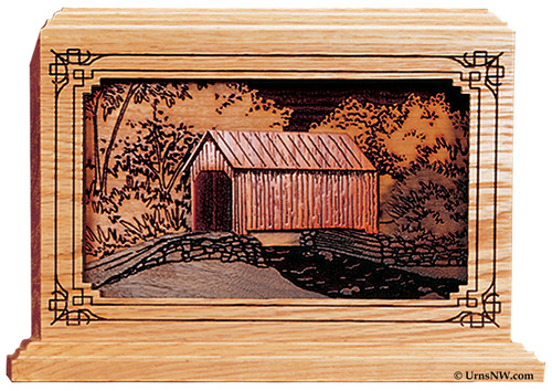 Covered Bridge Cremation urn