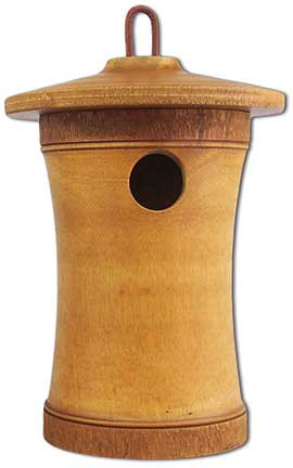 Birdhouse Scattering Urn Turned Birdsong