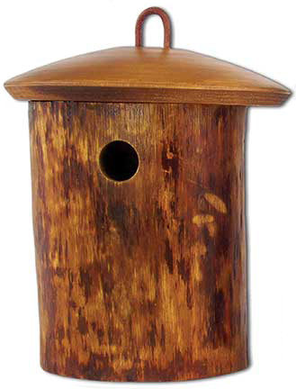 Birdhouse Scattering Urn Natural Birdsong - Mini