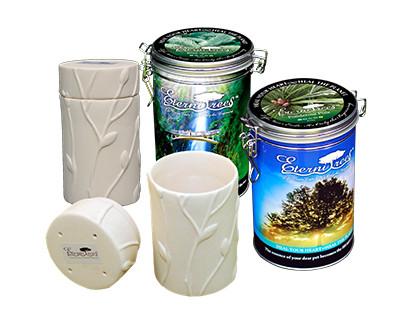 Biodegradable Memorial Tree Urns   Tin Sample