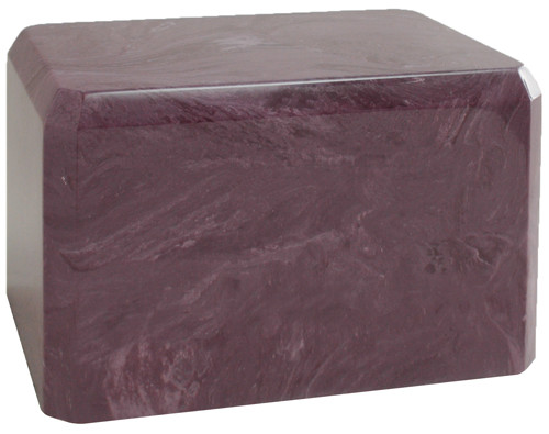 Cultured Marble Urn - Red Wine