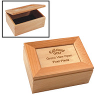 Personalized Maple Keepsake Box | Engraving Sample