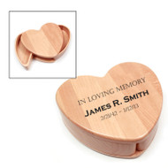 Personalized Maple Heart Keepsake Box