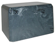 Cultured Marble Urn - Charcoal Dust