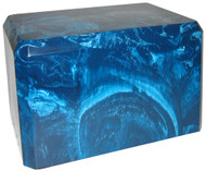 Cultured Marble Urn - Caribbean Blue