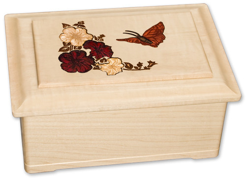 Inlay Butterfly Urn | White Maple