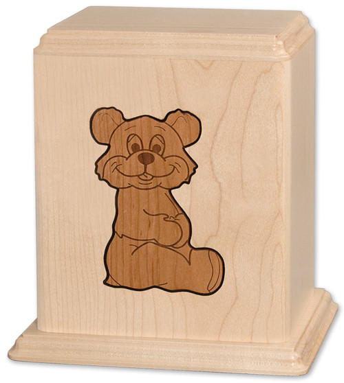 Teddy Bear Inlay Urn