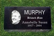 Personalized Granite Grave Marker - Oval Portrait