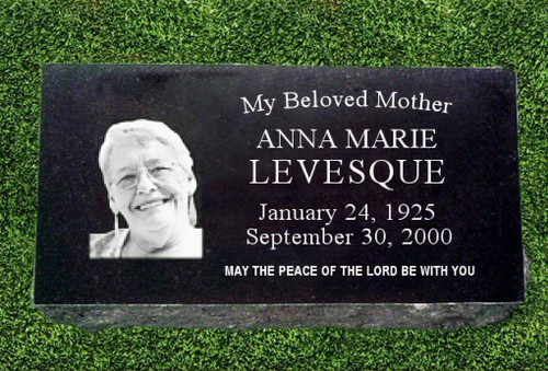 Portrait Photo Grave Marker