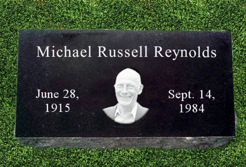 Center Oval Photo Grave Marker