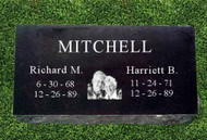 Double Portrait Grave Marker