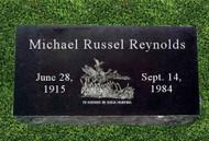 "Granite Grave Marker - ""The Sportsman"""