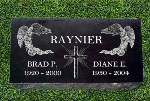 "Granite Grave Marker - ""Glory to God"""