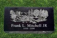"""Granite Grave Marker - """"Woodlands"""""""
