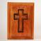 Cross Urn in Cherry Wood - Top