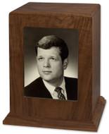 Photo Display Cremation Urn in Walnut