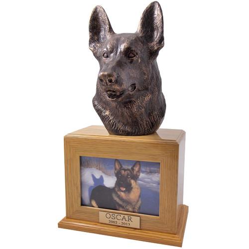 German Shepherd Urn with Photo Frame
