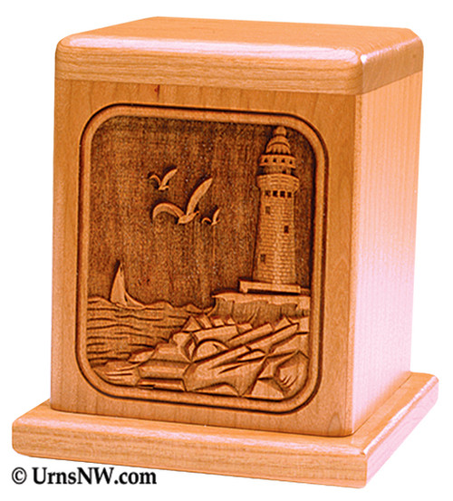 Lighthouse Cherry Keepsake Urn