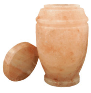 Himalayan Rock Salt Mini Cremation Urn - 60 cubic inches