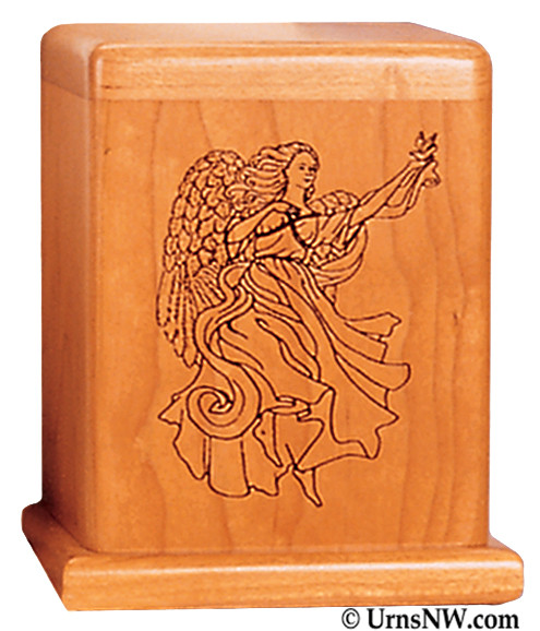 Angel Cherry Keepsake Urn