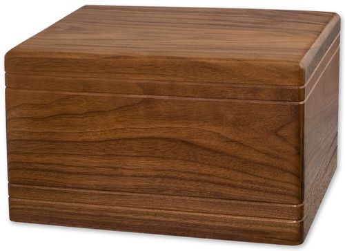 Boxwood Cremation Urn - Walnut Wood