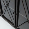 Waxed Black Iron Dining Buffet Cabinet with Glass Doors