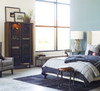 French Industrial Iron Bluestone Bistro Round Pedestal Bedroom Side Table