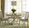 Coastal Beach White Dining Room Chair with Cushion