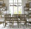 French Oak Upholstered Cafe Dining Chair with Nailheads