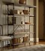 French Industrial Oak Wood + Metal Baker's Rack Shelving
