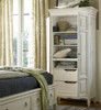 Country-Chic Maple Wood Tall Wardrobe Armoire-White