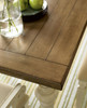 Country-Chic Maple Wood White Extending Dining Tables - Driftwood