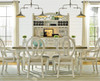 Country-Chic Maple Wood White Extending Dining Table - Driftwood