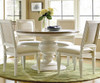 Country-Chic Woven Back Upholstered Dining Side Chairs