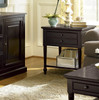 Country-Chic Maple Wood Black 1 Drawer End Tables sale