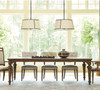 Maison French Fluted Leg extendable round dining table