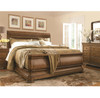 Louis Philippe Solid Wood King Size Sleigh Bedroom Furniture