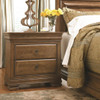 Louis Philippe Solid Wood 2 Drawers Nightstand