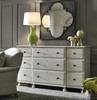 Sojourn French Country Solid Wood 9 Drawers Dresser- White