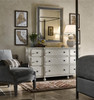 Sojourn French Country White Bedroom Wall Mirror