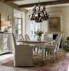 Sojourn Linen Upholstered Skirted Dining Room Arm Chairs